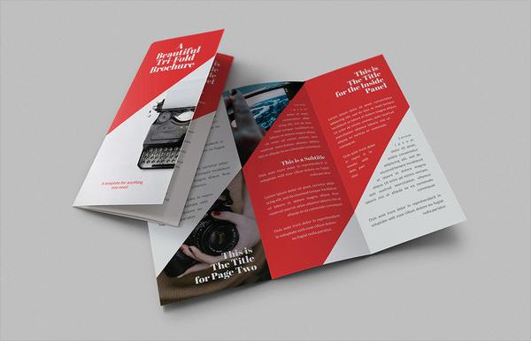 beautiful tri fold brochures