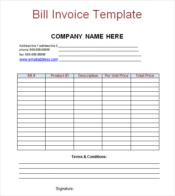 Keni Candlecomfortzone Com: Billing Invoice Template One Checklist That You Should