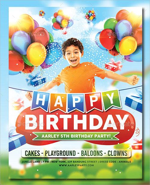 birthday party invitation template