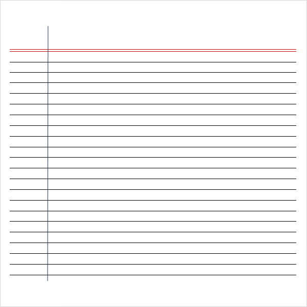 Lines Template For Writing. Printable Low Vision Writing Paper ...  Handwriting Paper Printable Free