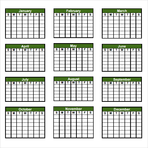 8 sample yearly calendar templates to download