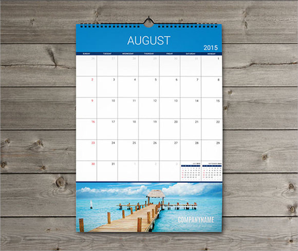 Printable Calendar Template   Documents In Psd Pdf
