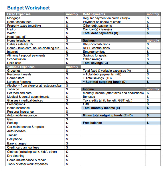 Budget Tracking Template - 10+ Free Download for PDF , Excel