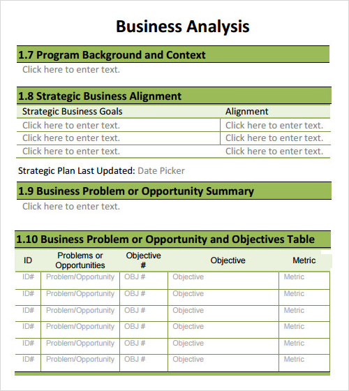 20 analysis templates sample templates business analysis template accmission Image collections