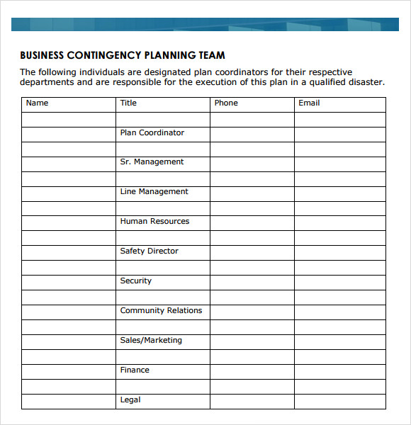 Business Continuity Plan Template U2013 9+ Free Download For PDF