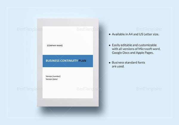 FREE 12+ Sample Business Continuity Plan Templates in PDF