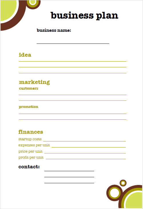 Small Business Plan Template - 6 Free Download for PDF | Sample ...