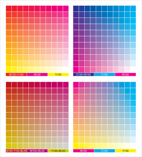Color Chart Template  WowcircleTk