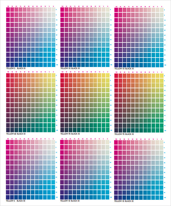 cmyk color chart for illustrator