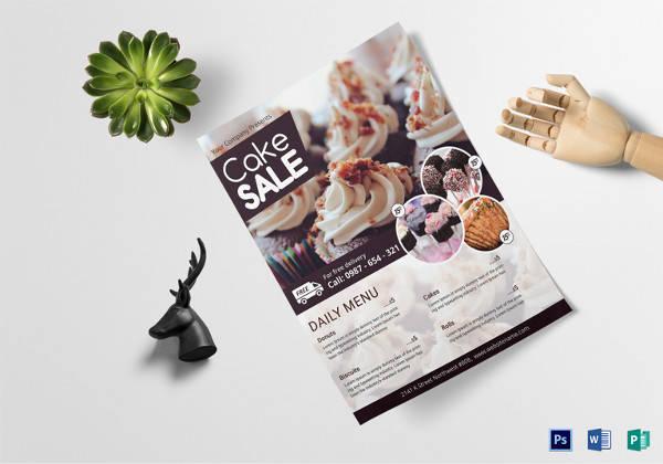 cake sale flyer template
