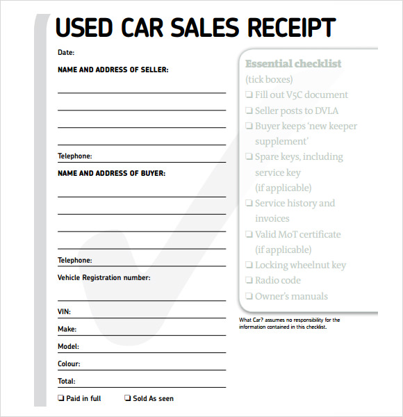 Download free used car sales templates backupattorney for Car deposit contract template