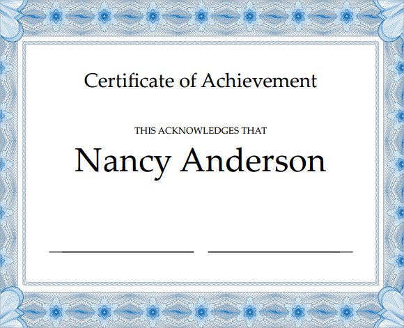 19 sample participation certificates sample templates for Certificate of attainment template
