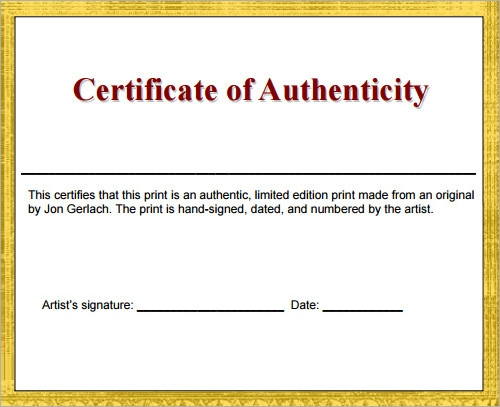 certificate of authenticity autograph template - 30 certificate templates sample templates