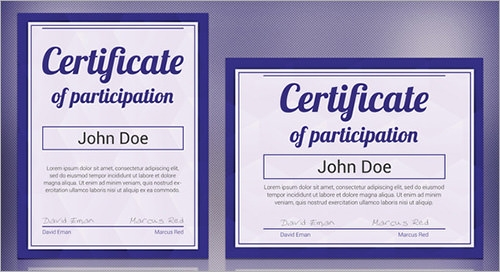 13 Sample Certificates Documents Download in PDF Word PSD – Sample Certificate of Participation
