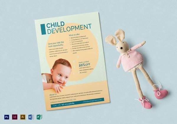 child development flyer template