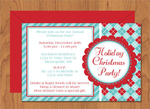 Holiday Invitation Templates  Free Sample Example Format
