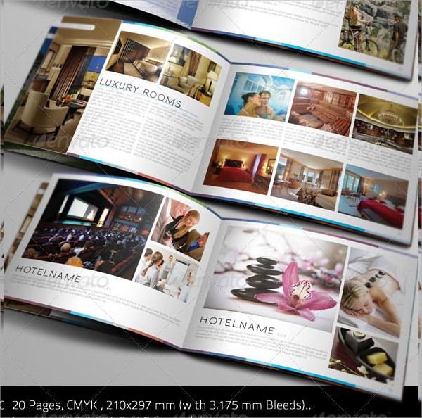 clean hotel brochure