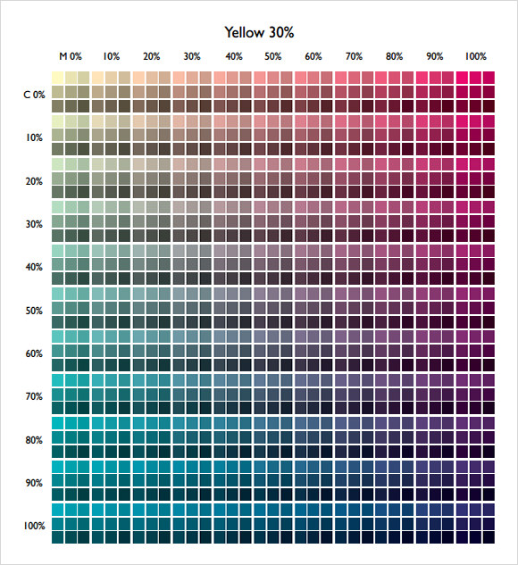 9+ Sample CMYK Color Chart Templates – PDF | Sample Templates