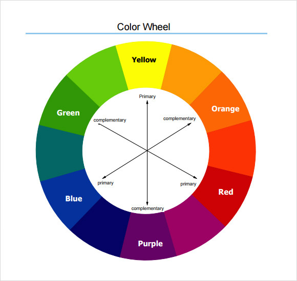 Sample Color Wheel Chart   Documents In Pdf Word