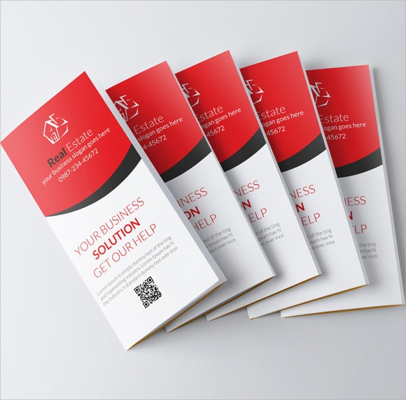 Real Estate Brochures PSD Vector EPS - Commercial real estate brochure template