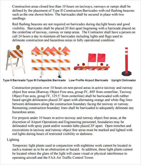 8 sample safety plan templates sample templates for Construction health and safety plan template
