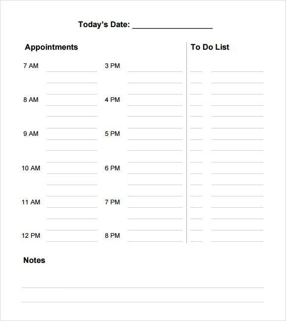Daily Agenda Template 5 Download Free Documents in PDF – Daily Agenda