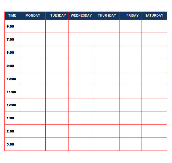 Sample Daily Calendar Template   Free Documents In Pdf Word Excel