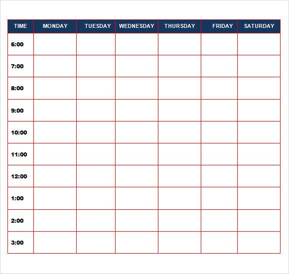 calendar template word – Daily Calendar