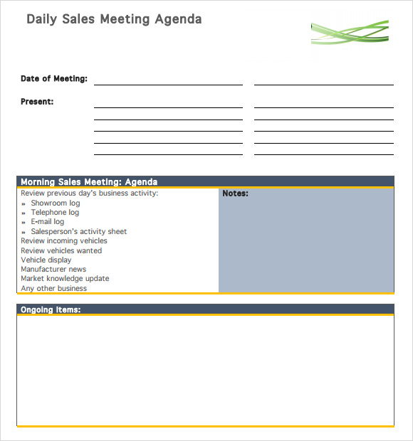 Agenda Planner Template   Free Download Documents In Pdf Word