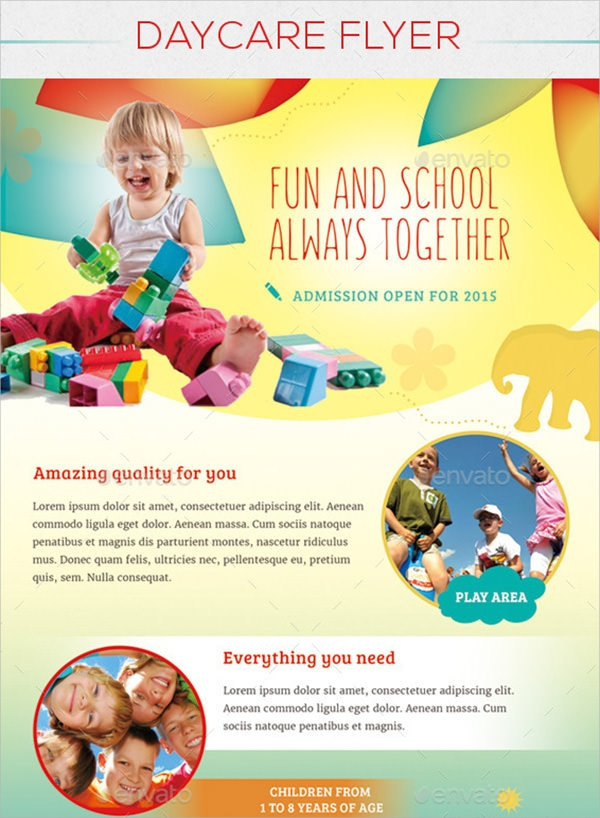 Modest image inside free printable daycare flyers