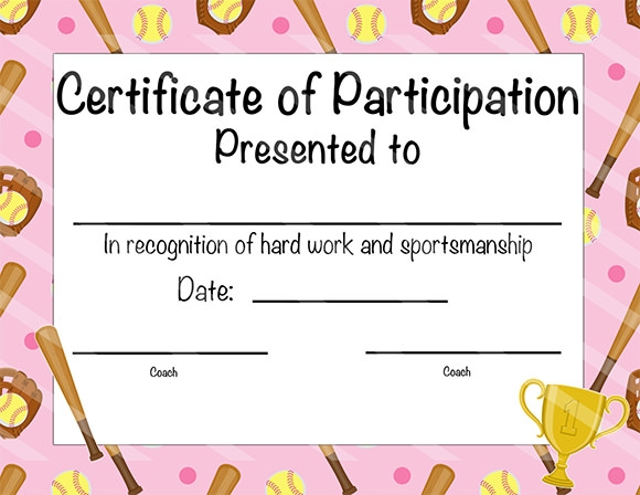 Award Certificate Templates For Kids Free certificate of – Sample Certificates for Kids