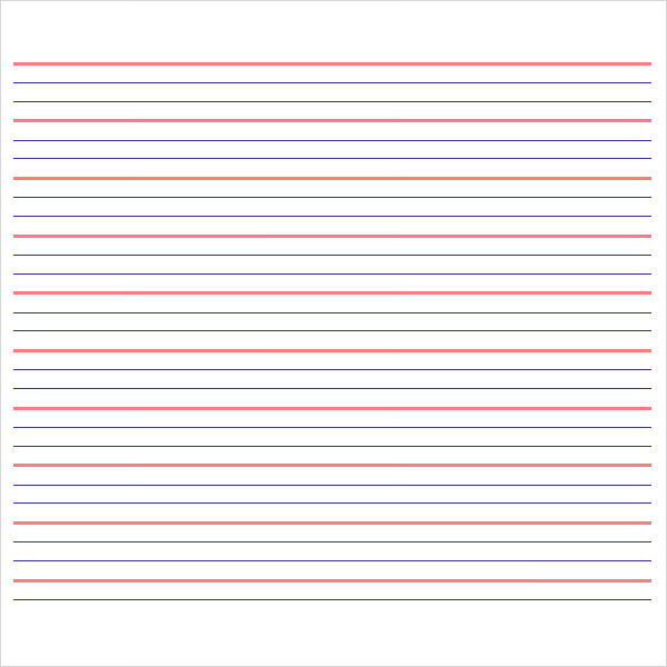 lined paper – Lined Notebook Paper Template