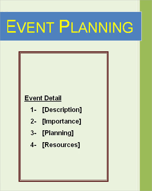 event planning template