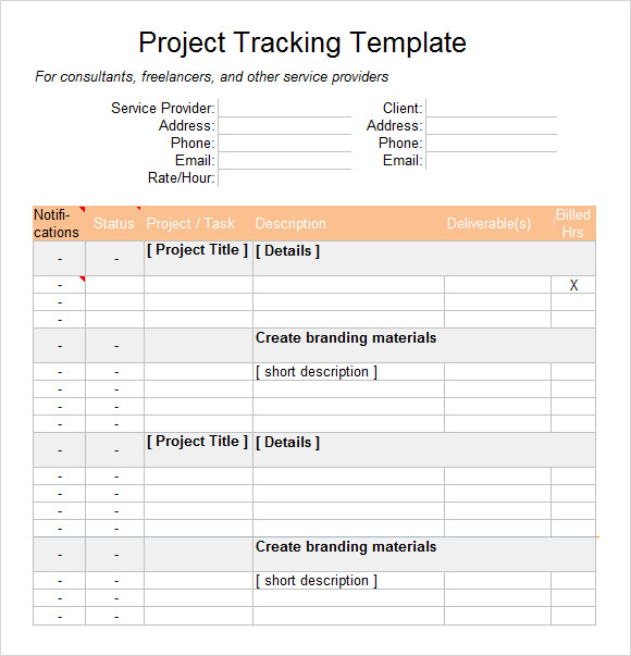 excel project tracking template1