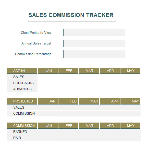 7 excel tracking samples sample templates for Sales commision structure template