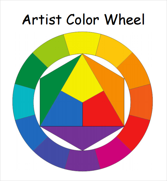 Color Wheel Chart Paint Template
