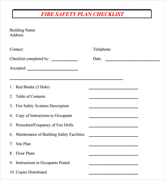 Safety Plan Template   Documents In Pdf