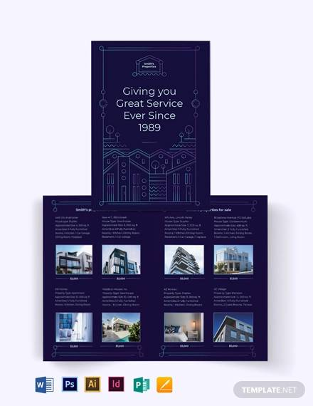 for sale by owner bi fold brochure template