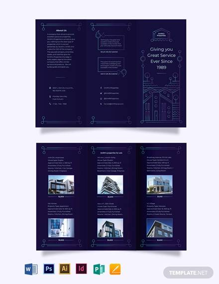 for sale by owner tri fold brochure template