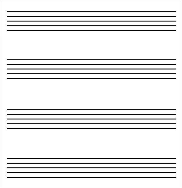 Music Staff Paper 8 Free Download For Pdf Word .