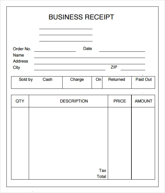 Free Business Receipt Template 2haPgXrZ