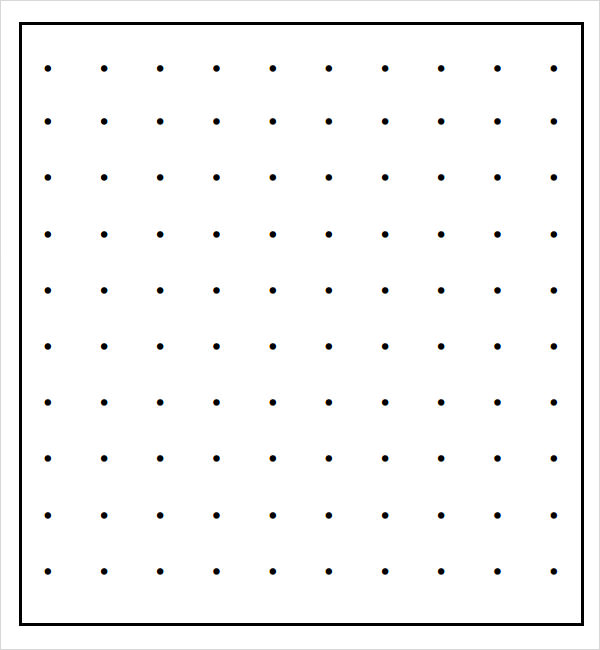 photograph regarding Dot Grid Printable named No cost 10+ Pattern Dot Papers within just Term PDF