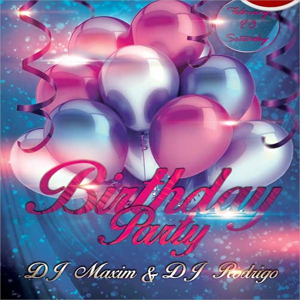 free happy birthday flyer template
