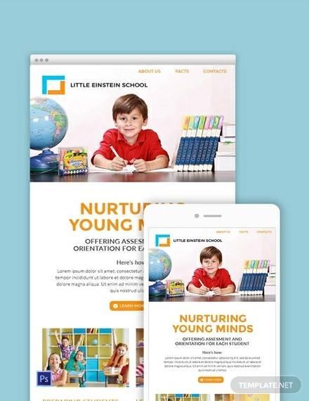 free preschool email newsletter template