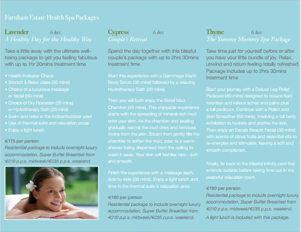 free spa brochure template