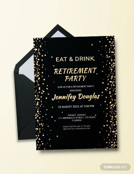 free surprise retirement party invitation