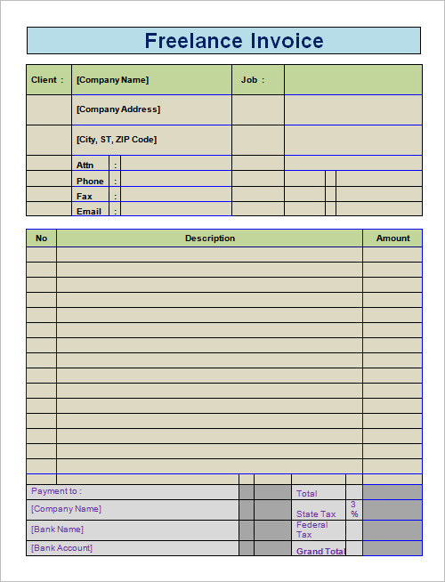 medical invoice template word .