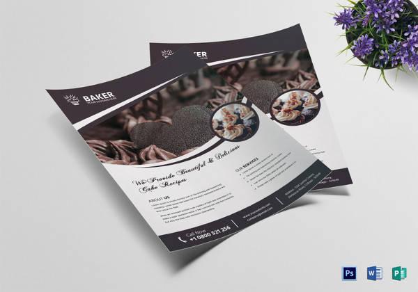 fresh goodness bake sale flyer template