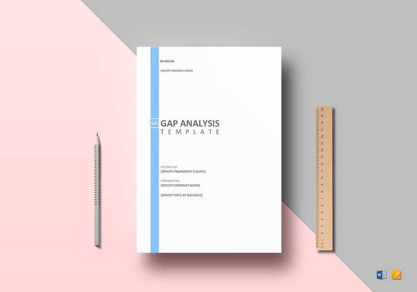 gap analysis template in ms word