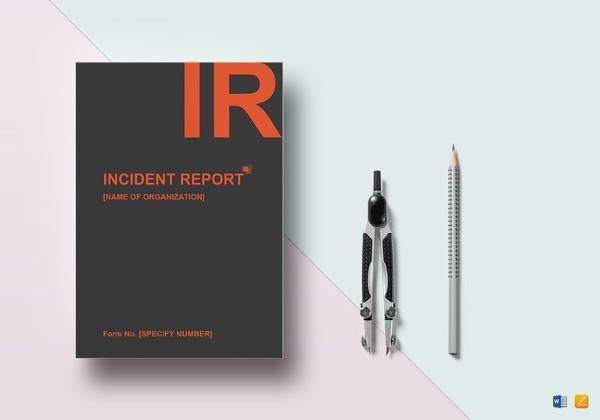 general incident report template in word